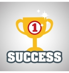 Flat about success design business vector