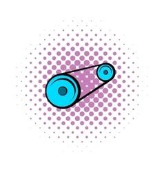 Alternator belt comics icon vector