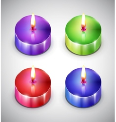 Aroma candle icons vector