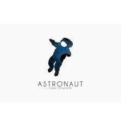 Astronaut logo cosmic logo stars and planet vector