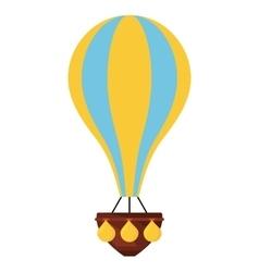 Balloon air hot flying vector