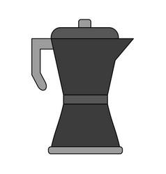 Color graphic metallic tea pot for hot drinks vector