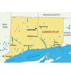 Connecticut - map vector image vector image