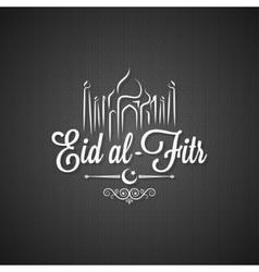 Eid Mubarak vintage lettering card background vector image vector image