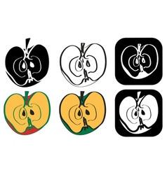 Figure half of apple vector