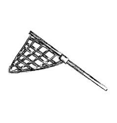 fishing racket isolated vector image