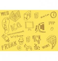 Geek sketch vector