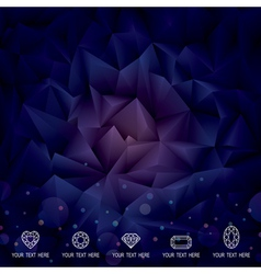 Geometric Dark Background vector image vector image