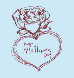 Happy mothers day flower cute sketch vector
