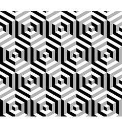 Isometric 3d hexagon seamless pattern background vector image