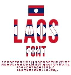 Laos Flag Font vector image