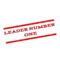 Leader number one watermark stamp vector