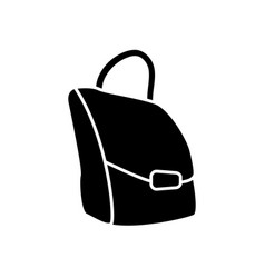 leather bag isolated vector image