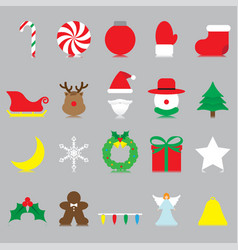 merry christmas - isolated icons vector image vector image
