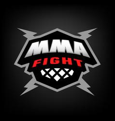mixed martial arts logo vector image