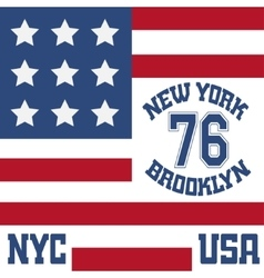 New york brooklyn typography t-shirt vector