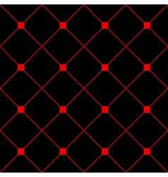 Red square diamond grid black background vector