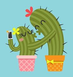 Selfie cactus vector