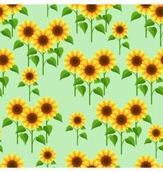 Summer flowers sunflowers seamless pattern vector