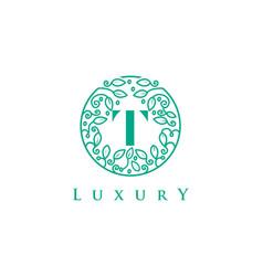 t letter logo luxurybeauty cosmetics logo vector image