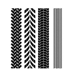 Tire track brush seamless border vector