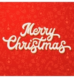 White 3d Xmas lettering on Christmas background vector image vector image