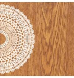 White crochet doily vector