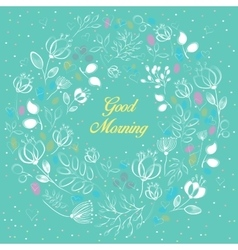 White floral ring good morning vector