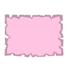 Parchment old paper empty banner pink vector