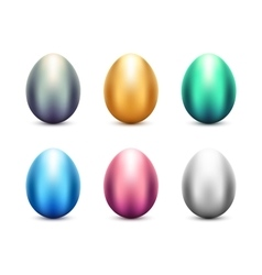 Metal eggs set vector