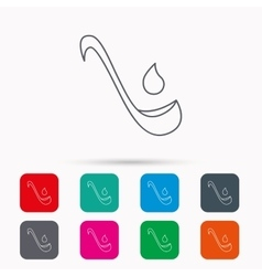Soup ladle icon kitchen spoon sign vector