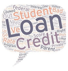 Bad credit student loan can be a godsend text vector