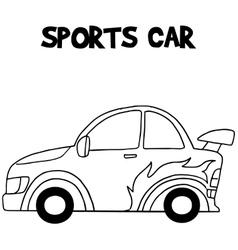 Sport car of vector