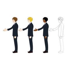 business man hand shake vector image