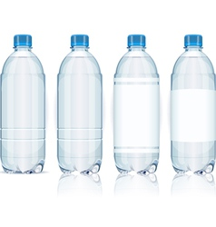 Four Plastic Bottles with Generic Labels vector image