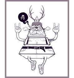 Hand-drawn triangle hipster vector