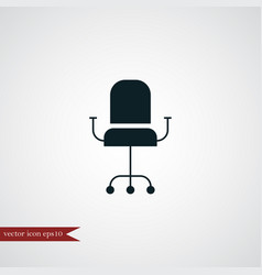 Office chair icon simple vector