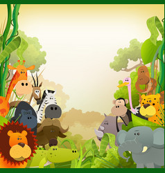 wildlife african animals background vector image