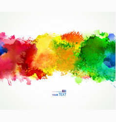 Bright watercolor stains vector