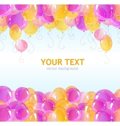 Holiday frame with colorful balloons vector
