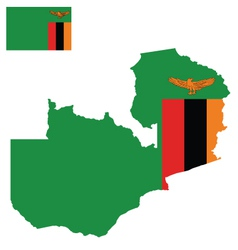 Zambia flag vector
