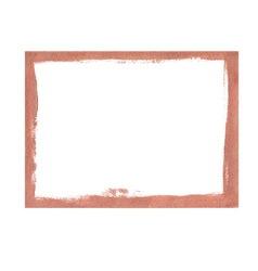Bronze grunge frame vector image