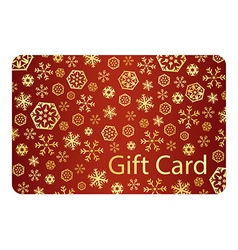 Exclusive red christmas gift card with golden vector