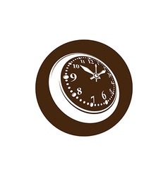 Old-fashioned pocket watch graphic simple timer vector