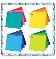 Frame and paper clips vector