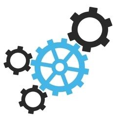 Mechanism flat pictogram vector