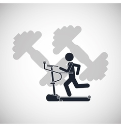 Running machine icon design vector