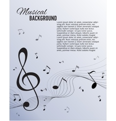 Paper background with music notes vector image