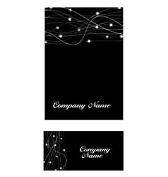 Abstract luxury black diamond business card vector