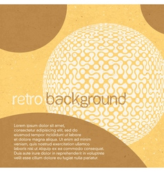 abstract retro background with circles vector image vector image